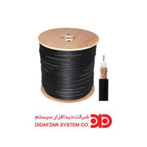 کابل کواکسیال RG-59 مغزی تمام مس ۰/۷ و شلید ۹۸ رشته (۵۰۰ متری)