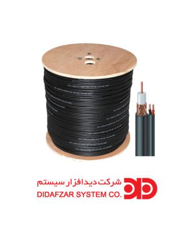 کابل ترکیبی کواکسیال RG-59 به همراه کابل پاور۲X0.75  ( ۳۰۵ متری)